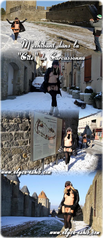 130212 Nue en public dans la Cité de Carcassonne