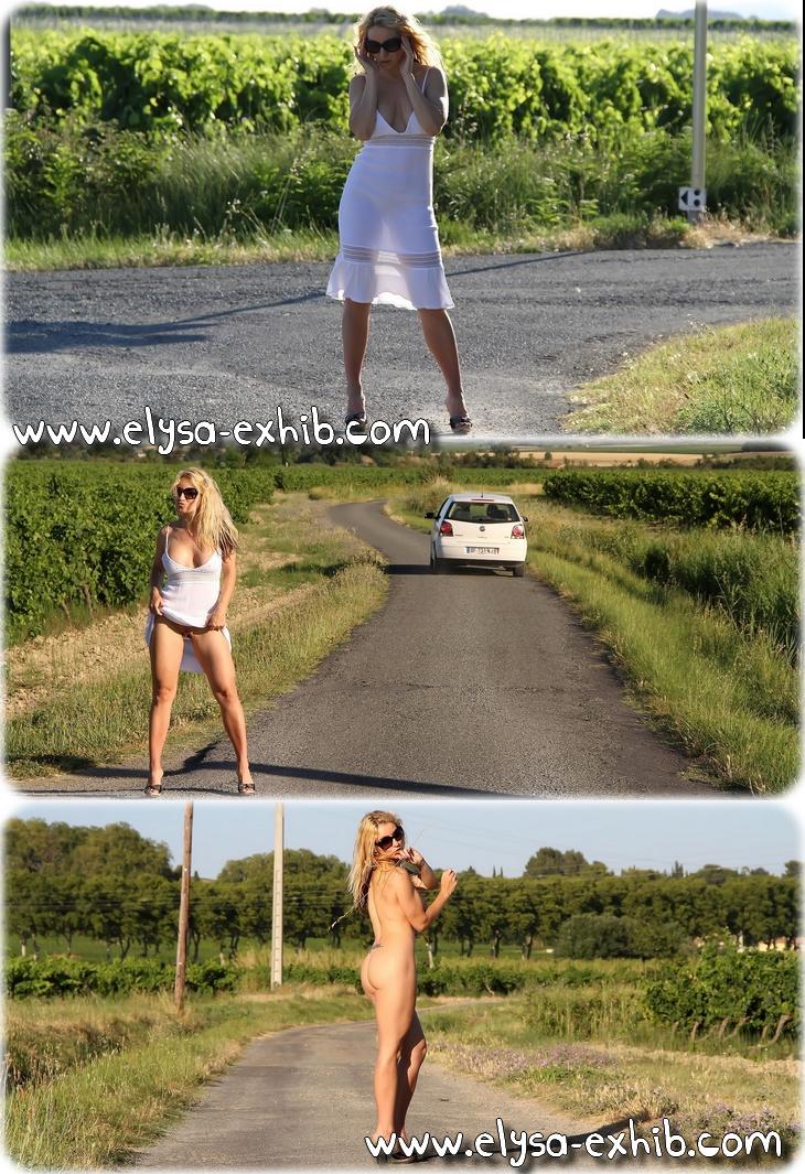 0017 Toute nue et sexy sur la route