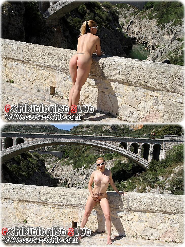 0035 Mexhibant nue sur le pont du diable!