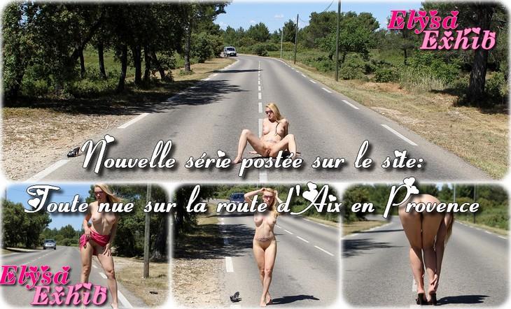 0054 Toute nue sur la route dAix en Provence