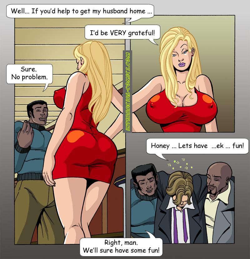Showing porn images for blonde and black men comic porn