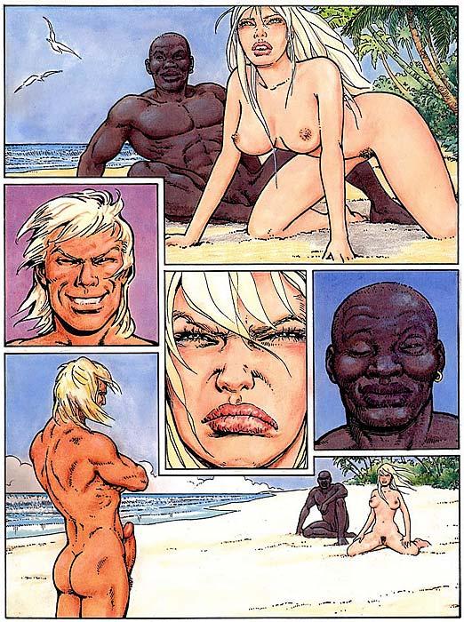 Hot interracial cartoon think