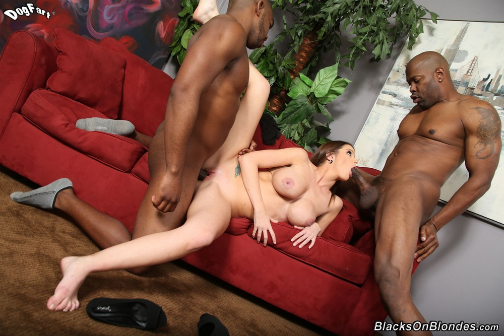 Brooklyn chase fucks two anonymous black guys - 1 part 7
