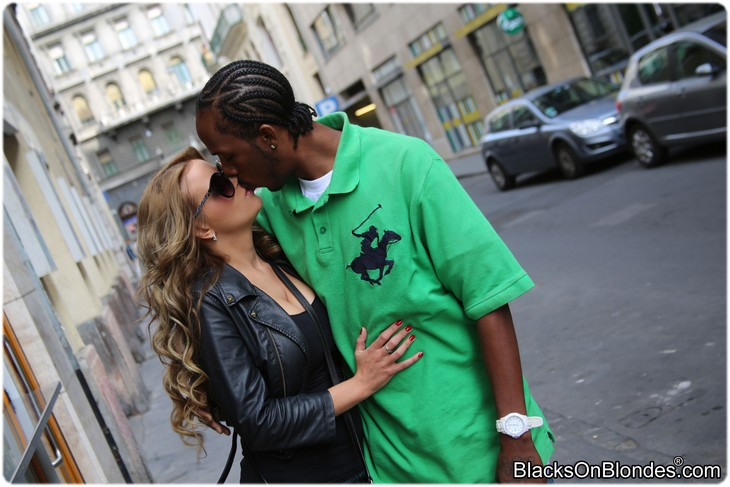 Candy Alexa is kissing a black guy