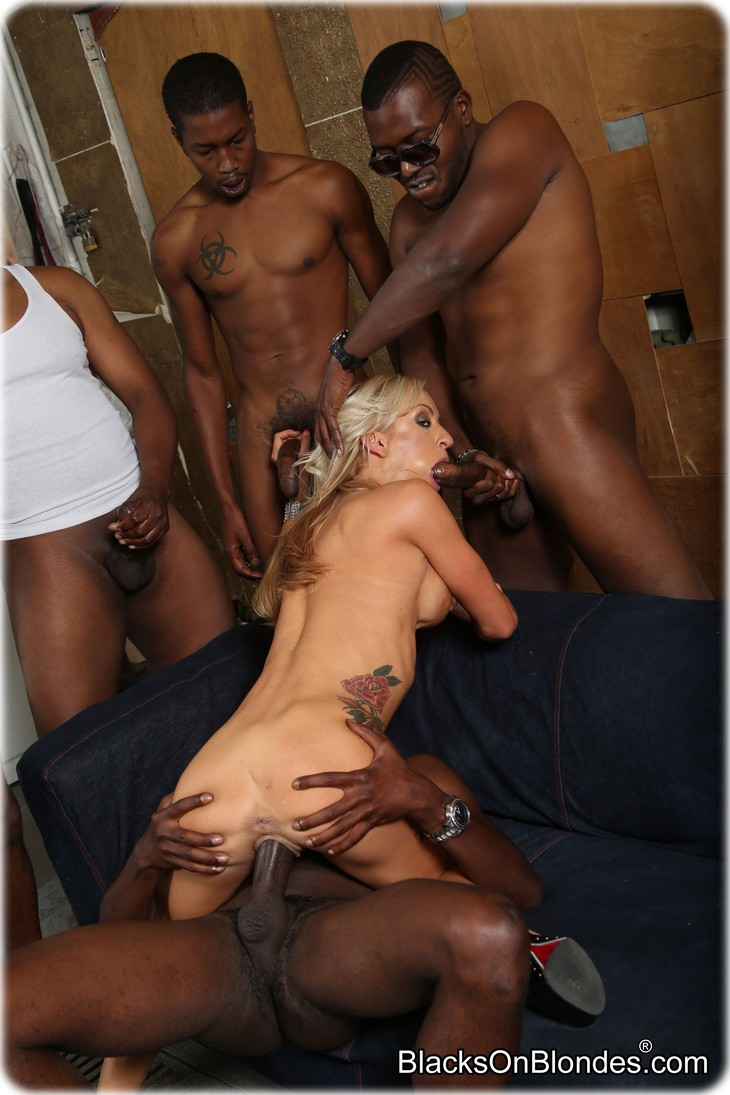 Men gangbanging slut