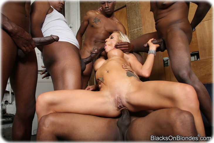 214 Zoey Portland gets gangbanged by several black men