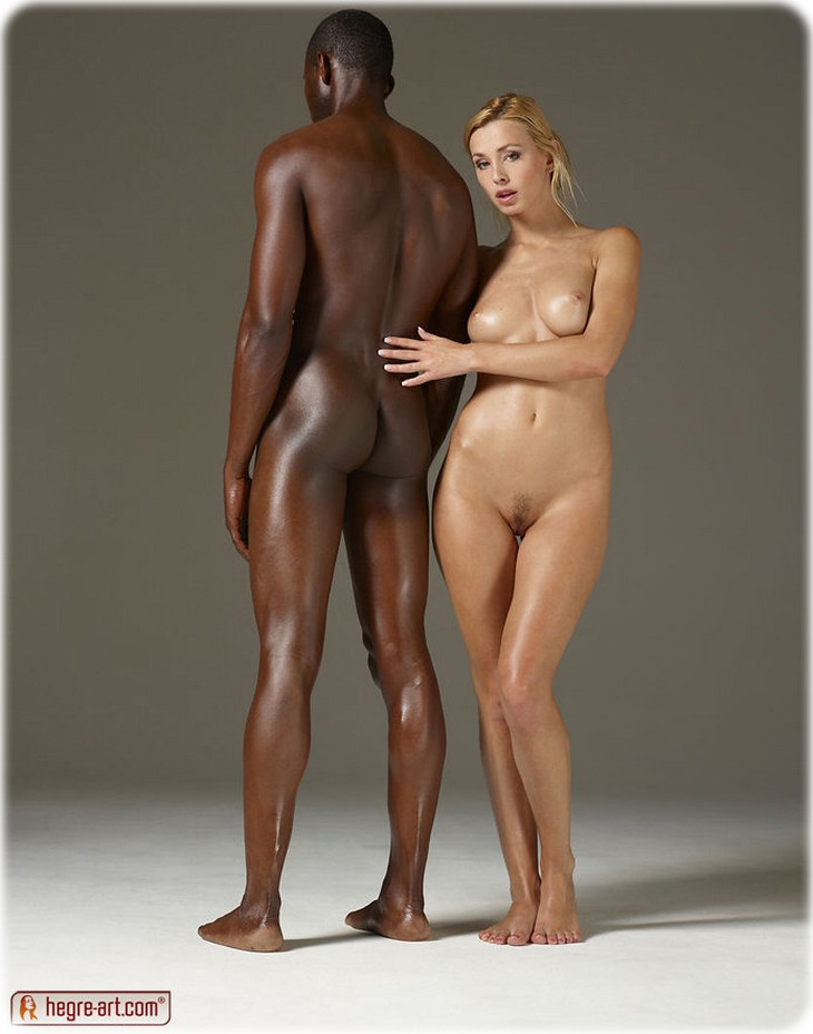 Sensual interracial photography