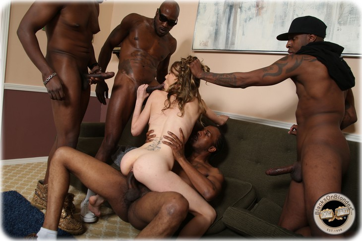White girl getting gang fucked
