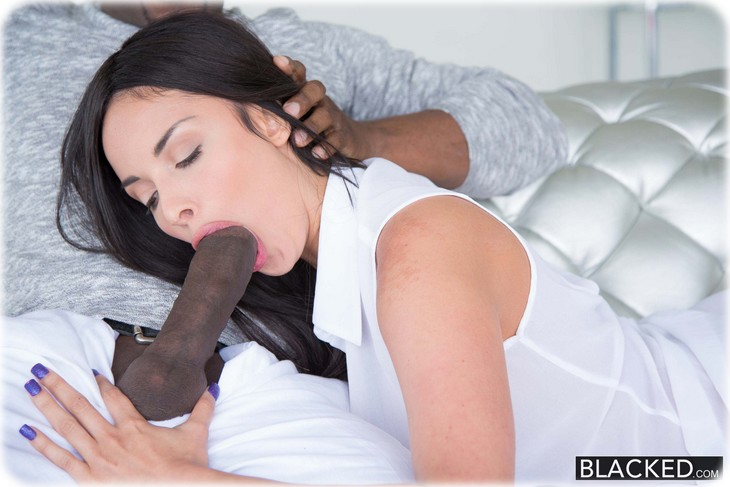 She likes sucking huge black cocks