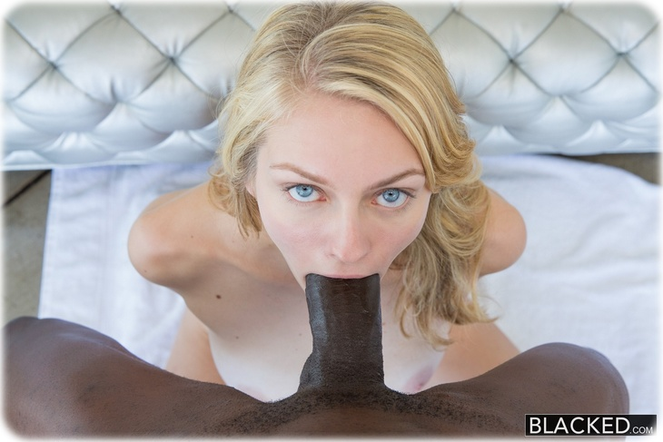 Alli Rae is sucking a huge black cock