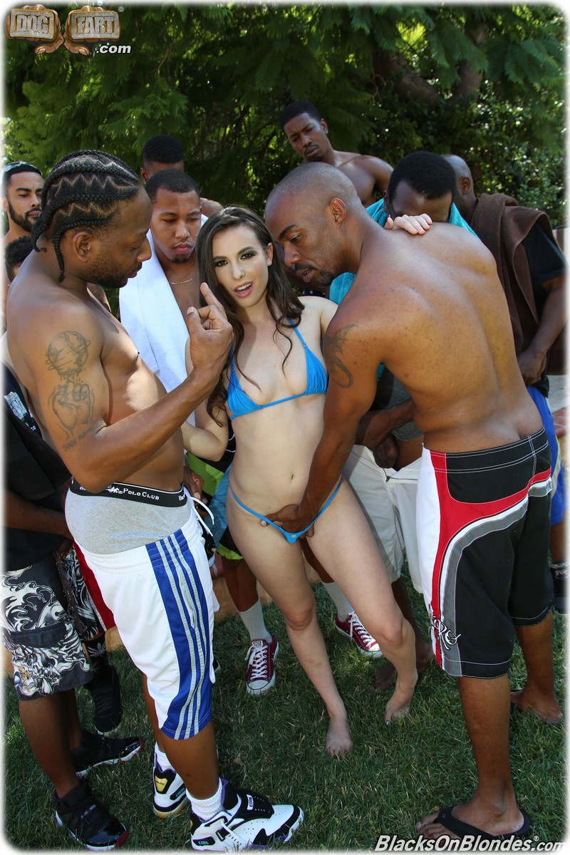 Dirty Casey Calvert with 10 Black cocks