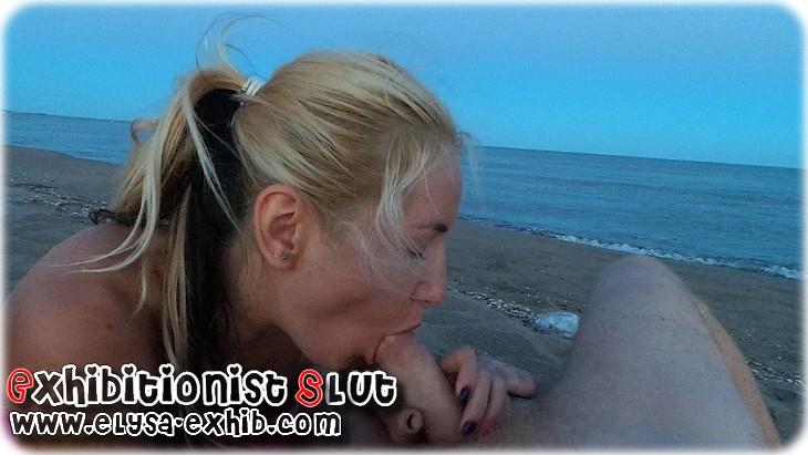 300911 Blonde salope se godant et se faisant baiser en public