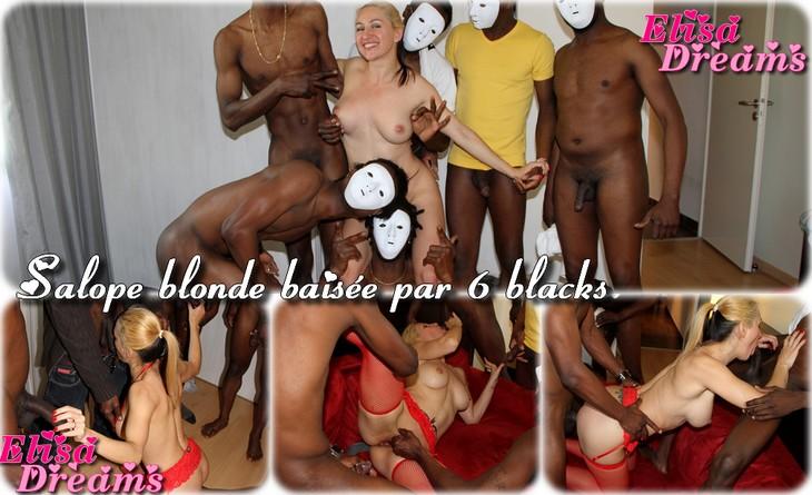 01141 Salope blonde baisée par 6 blacks